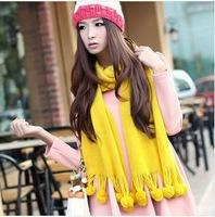 Fast shipping Special Offer Scarf Pure color long scarf 2013 Winter knitted Scarf