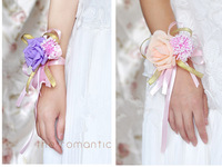 Free Shipping, Fashion Bride Hand Flower Bridesmaid Wrist Flowers Meeting Wedding Supplies, Drop Shipping, PH0044