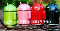 free ship android doll robot card mini speaker USB enhanced mini audio mp3 subwoofer U disk+TF