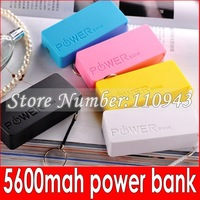 hot sale 200pcs Perfume 2th 5600mAh Universal Power Bank USB Backup Battery for iPod iPhone Samsung HTC + Retail Box free FEDEX