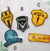 Adhesive fabric sports badge coat clothes patch stickers sportswear high quality fashion applique DIY accessories free shipping