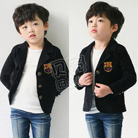 2014 autumn preppy style boys clothing baby child fleece suit jacket wt-0519