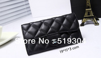 women wallet  Wholesale/ Retail Cheap PU Leather Two Zipper Women Wallet Lady Purse Free shipping New Arrival