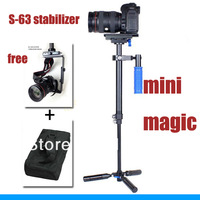 Professional Mini Handheld Aluminum alloy stabilizer & mini magic stabilizer S-63 For Camcorder DV Video Cameras DSLR   30200207