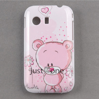 2pcs/lot Cute Cool Fashion Pattern Protector Plastic Back Case Cover For Samsung Galaxy Y S5360 New