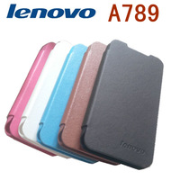 lenovo A789 Leather Case for Lenovo A789 Smart Phone Case with Free protective film Freeshipping