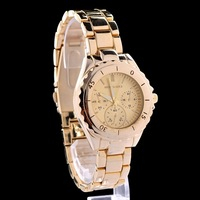 Rrose Gold Silver Quartz Watch Stainless Steel Business Wrist watch for Men Women