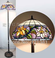 Tiffany Style Lily Floor Lamp Bedroom Stained Glass  Stand Light  Handcrafedt  Living Room Home Decorations Lightings