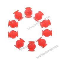 10pcs High Elastic Anti-vibration Rubber Ball Dual-head for Gimbal FPV PTZ Red 20908