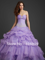 2013 New HOT SALE Striking Corset Back Ruffled Skirt Ball Gown by Allure Quinceanera