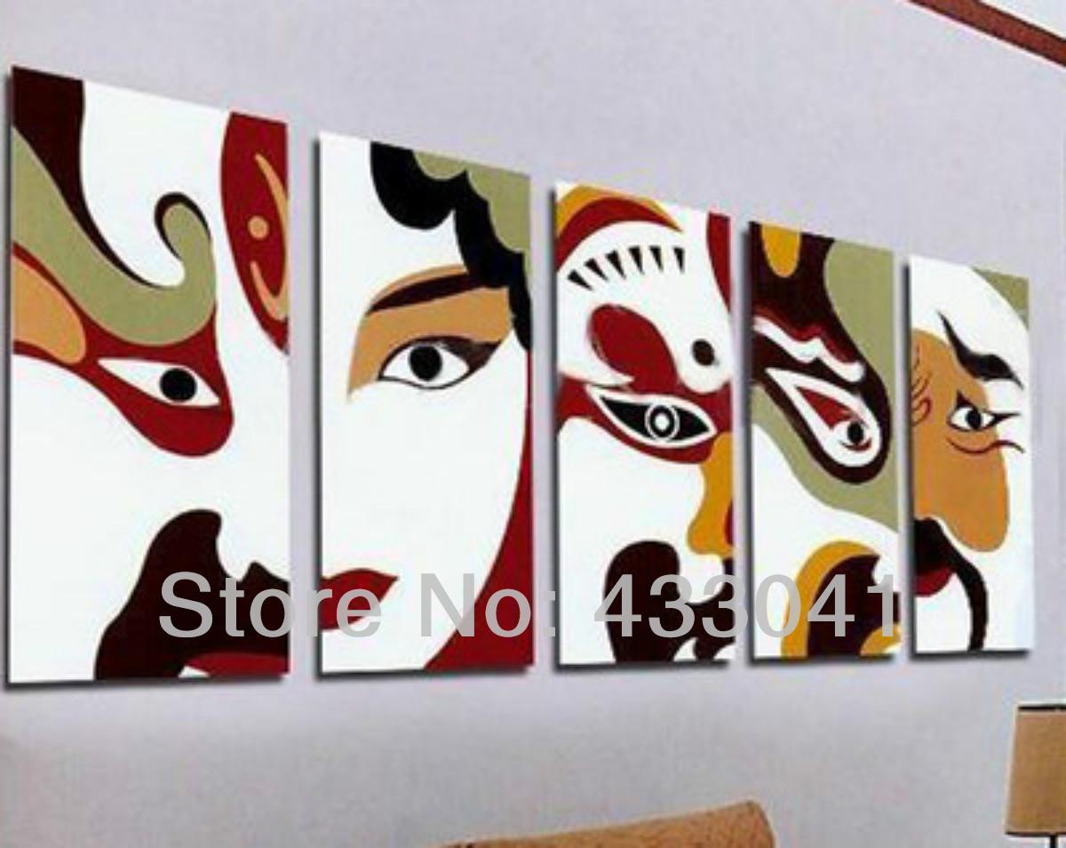 Living room oil paintings
