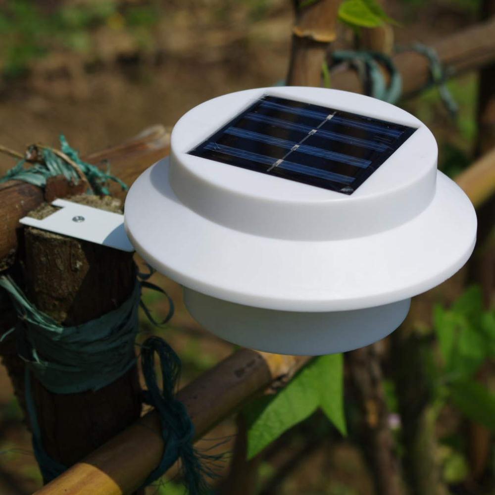 1 set zonne energie hek goot 3 led licht outdoor tuin tuin muur pad lamp gloednieuw - Outdoor licht tuin ...