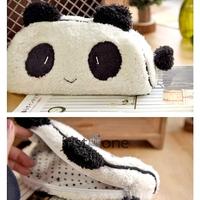 Cute Soft Plush Panda Pencil Pen Card Case Cosmetic Notebook Makeup Bag Pouch