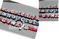 260pcs 8mm lowercase rhinestoneslide letters fit 8mm pet collor belt