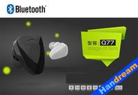 Handream Newest cheap wireless Micro Bluetooth Headset Q77 Bluetooth Headphone Universal Bluetooth earphone free shipping