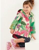 Retail New 2015 Autumn Winter Outerwear High Quality Windbreaker Hooded Flowers Children Clothing Girls Coat Children Outerwear