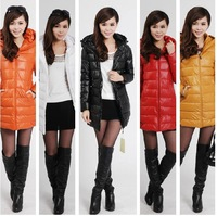 2013 Hot Sale Winter Cotton Clothes Medium Style Slim Jacket womens parkas jacket winter coat women long outerwear with hat N364