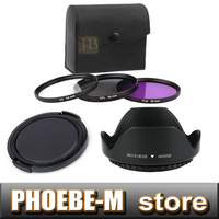 new 67mm UV+CPL+FLD Lens Filter + lens cap + len hood for canon nikon pentax sony camera