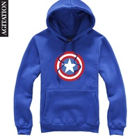 Thicken pullover with a hood sweatshirt male Captain America movie outwear