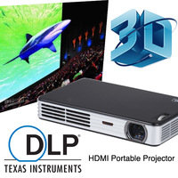 Digital 3D Projector DLP Mini Portable Video Proyector Projetor HDMI TF USB VGA Home Cinema School Office Wedding best Christmas