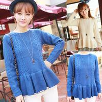 Autumn and winter fish tail ruffle skirt sweep slim waist slim sweater f8