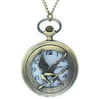 The Lovely Bird with An Arrow Pocket watches       Wholesale Hollow Carved Bird pattern Hunter Case Fob Watches Quartz Watches