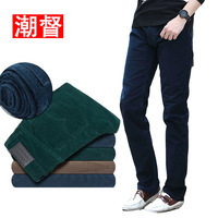 Slim corduroy pants trousers male corduroy pants male plus size casual elastic pants men's clothing