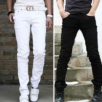 2013 men's clothing male casual pants slim skinny pants male trousers pencil pants trousers