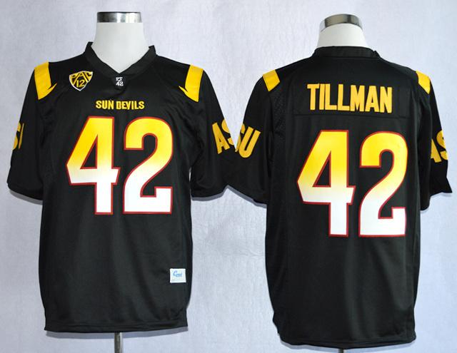 Livraison gratuite gros Arizona State Sun Devis ( ASU ) Pat Tillman 42 College Football limitées maillots taille m,L Xl, 2xl, 3XL(China (Mainland))