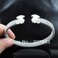 Free Shipping Wholesale Valentine Gift Titanium steel Love bangle Fashion Bracelet Little bear bangle Valentine bangle