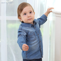 2013 spring and autumn baby autumn baby 100% cotton denim shirt long-sleeve top children's clothing