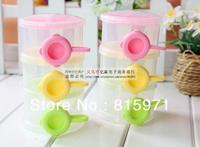 2pcs/lot High quality baby three-layer powder storage box small children food bins 8051
