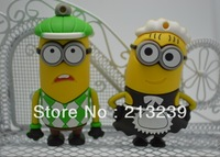 Free+Drog Shipping Wholesales New Cartoon Minions Thief/Waiters Model usb 2.0 memory flash stick pendrive