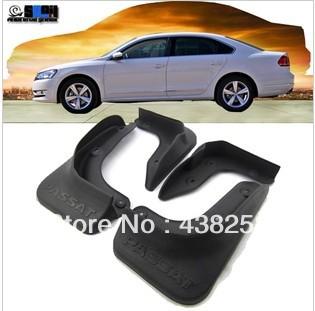 Soft ABS Volkswagen passat 2013 mud Flaps Guard Mudguard Fenders Splash Flaps 4 PCS(China (Mainland))