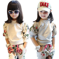 Fashion girl clothing set for spring and autumn wholesale and retail with free shipping