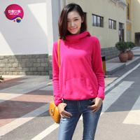 As 2013 women's kangaroo pocket heap turtleneck lovers design sweatshirt 9340223