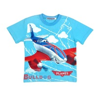 wholesale 2014 new brand Planes Movie T-shirts Children's Clothing with short sleeves boy's t-shirt  good quality kid shirt