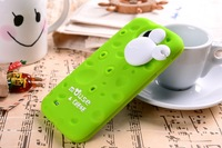 New 2013 novelty silicon cute mouse cheese phone case for samsung galaxy s4 i9500 with a winder