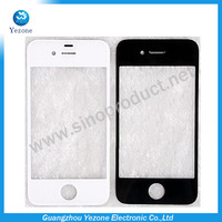 Front Screen Lens Outer Glass For Apple iphone 4 4g For iphone 4g Front glass digitiger touch free adhesive Free shipping