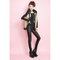 2013 New Women's Leather Pant  Winter Plus Size Super Warm PU leather Pants Slim America PU leather Pants Pencil Pants