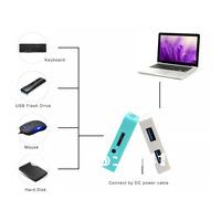White Portable 4 - Ports USB 3.0 HUB 4 Port Mini USB3.0 HUB Adapter