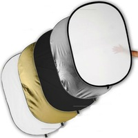 "100 x 150cm/40"" x 60"" Collapsible Oval 5 in 1 Photo Reflector     30200222"