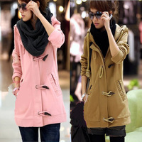 2013 autumn and winter medium-long plus size thickening fleece cardigan with a hood sweatshirt outerwear female