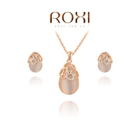 ROXI Christmas gift fashion opals set, 100% hand made,fashion jewelry earrings+necklace,20700371080