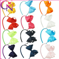 Hot Sales 12 pieces/lot High Quality Hair Band With Grosgrain Ribbon Hair Bow Hair Band For Kids CNHB-1310312