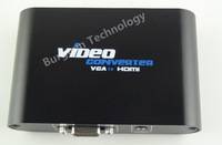 VGA and Audio to HDMI Converter Box Upscale Adapter from PC Notebook Computer up to 1080p HDTV Projector free shipping