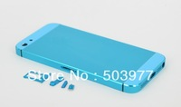 Free shipping!Brand New For iPhone 5 Back Cover Housing with mid Frame-Light blue color