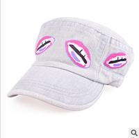 new 2014  Korean fashion sexy lips baseball cap(freeshipping)