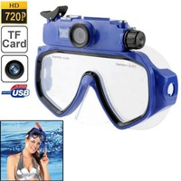 Outdoor Sports Experts Carriable Waterproof DVR Cam DV Professional Wide Angle Diving Mask Underwater 30M Digital Camera