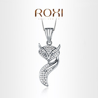 ROXI Exquisite Cute little fox necklace platinum plated with AAA zircon,fashion Environmental Micro-Inserted Jewelry,103018816